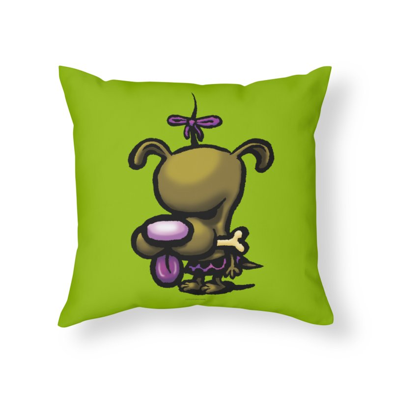Squirmish Card B01: DOLLY BISCUIT Home Throw Pillow by STWALLSKULL's Shirt Shack