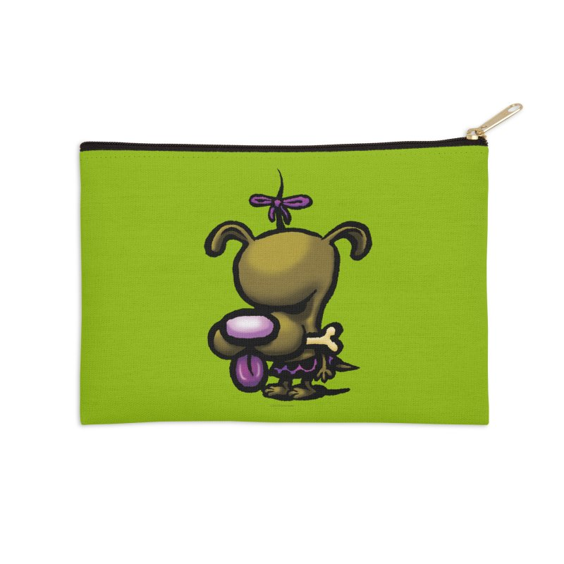 Squirmish Card B01: DOLLY BISCUIT Accessories Zip Pouch by STWALLSKULL's Shirt Shack