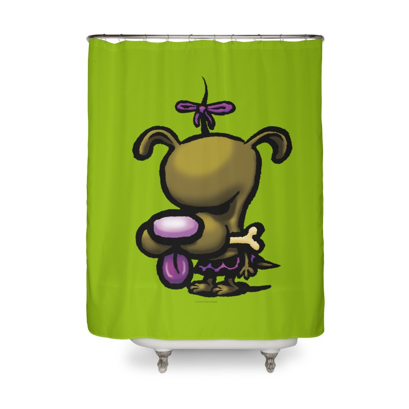 Squirmish Card B01: DOLLY BISCUIT Home Shower Curtain by STWALLSKULL's Shirt Shack