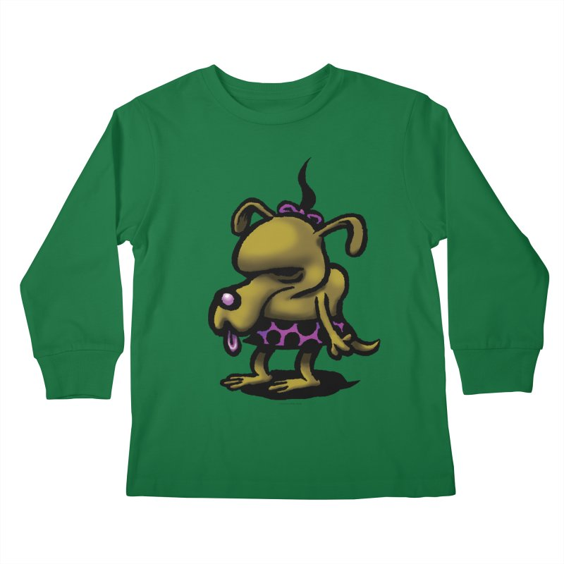 Squirmish Card B02: SALLY BISCUIT Kids Longsleeve T-Shirt by STWALLSKULL's Shirt Shack