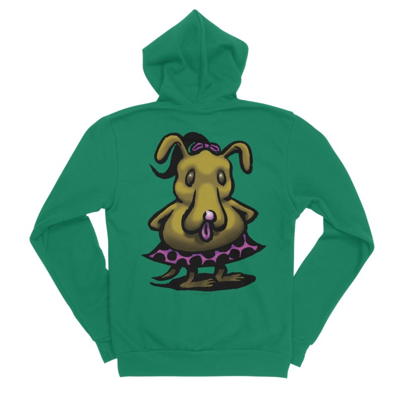 Squirmish Card B03: BETTY BISCUIT Men's Sponge Fleece Zip-Up Hoody by STWALLSKULL's Shirt Shack