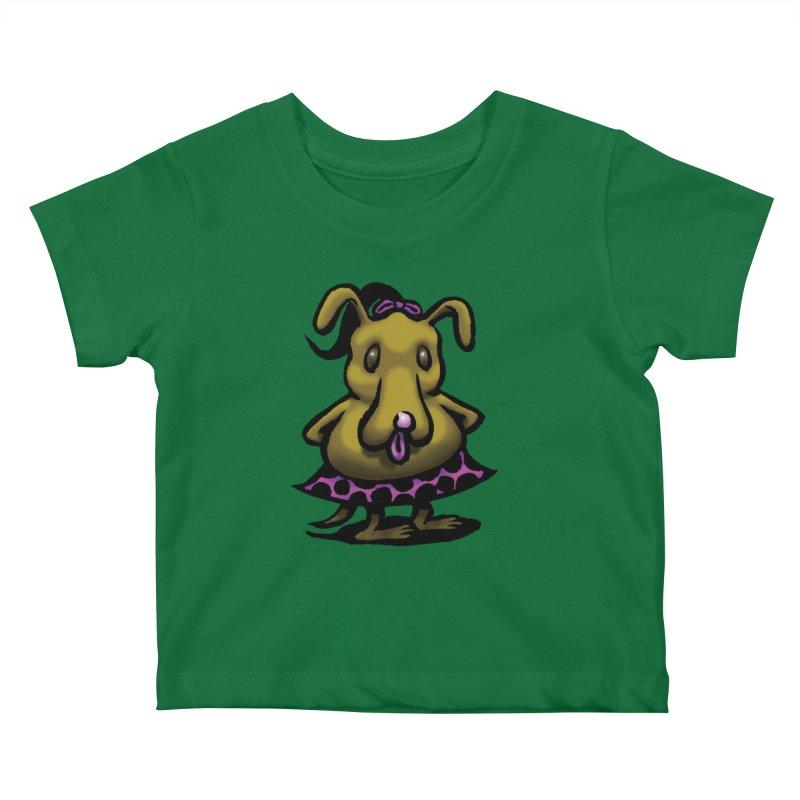 Squirmish Card B03: BETTY BISCUIT Kids Baby T-Shirt by STWALLSKULL's Shirt Shack