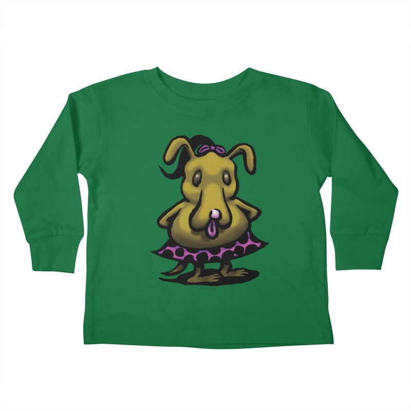 Squirmish Card B03: BETTY BISCUIT Kids Toddler Longsleeve T-Shirt by STWALLSKULL's Shirt Shack