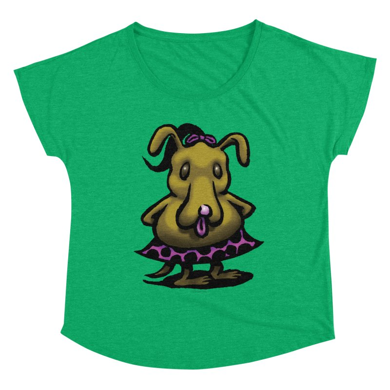 Squirmish Card B03: BETTY BISCUIT Women's Dolman Scoop Neck by STWALLSKULL's Shirt Shack