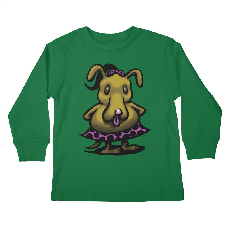 Squirmish Card B03: BETTY BISCUIT Kids Longsleeve T-Shirt by STWALLSKULL's Shirt Shack