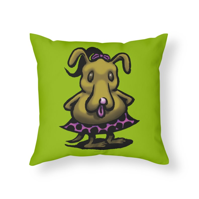 Squirmish Card B03: BETTY BISCUIT Home Throw Pillow by STWALLSKULL's Shirt Shack