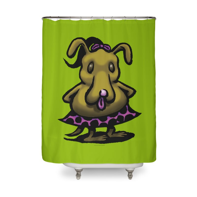 Squirmish Card B03: BETTY BISCUIT Home Shower Curtain by STWALLSKULL's Shirt Shack