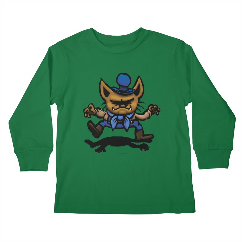 Squirmish Card C02: DON GRAVY Kids Longsleeve T-Shirt by STWALLSKULL's Shirt Shack