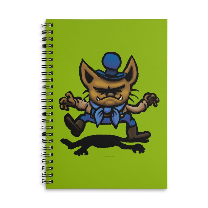 Squirmish Card C02: DON GRAVY Accessories Lined Spiral Notebook by STWALLSKULL's Shirt Shack