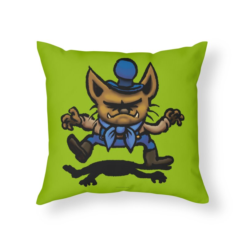 Squirmish Card C02: DON GRAVY Home Throw Pillow by STWALLSKULL's Shirt Shack