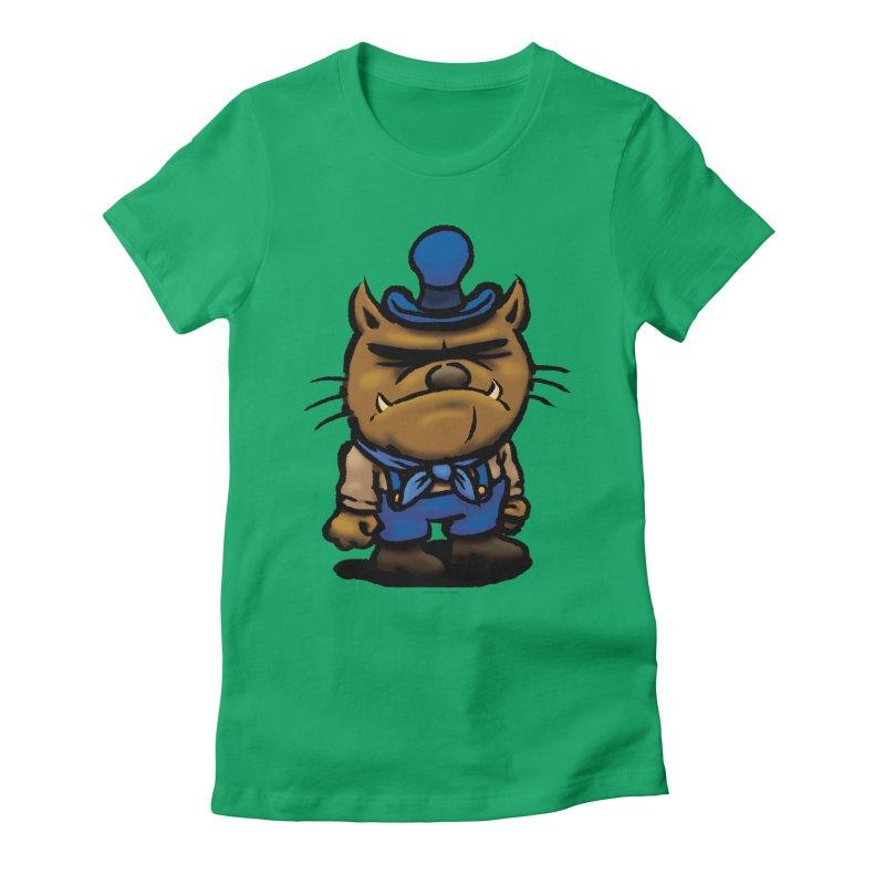 Squirmish Card C03: DAN GRAVY Women's Fitted T-Shirt by STWALLSKULL's Shirt Shack