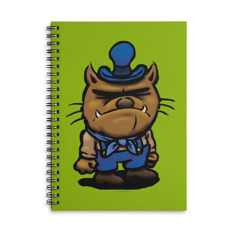 Squirmish Card C03: DAN GRAVY Accessories Lined Spiral Notebook by STWALLSKULL's Shirt Shack