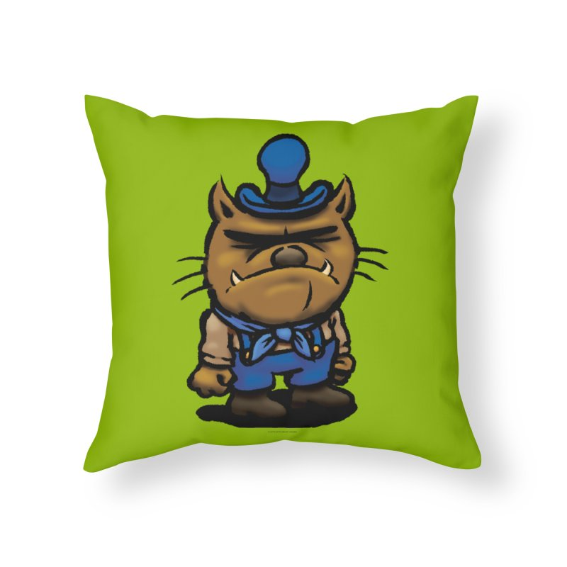 Squirmish Card C03: DAN GRAVY Home Throw Pillow by STWALLSKULL's Shirt Shack