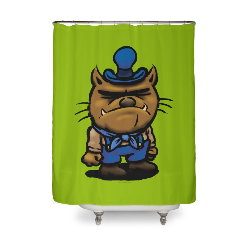 Squirmish Card C03: DAN GRAVY Home Shower Curtain by STWALLSKULL's Shirt Shack