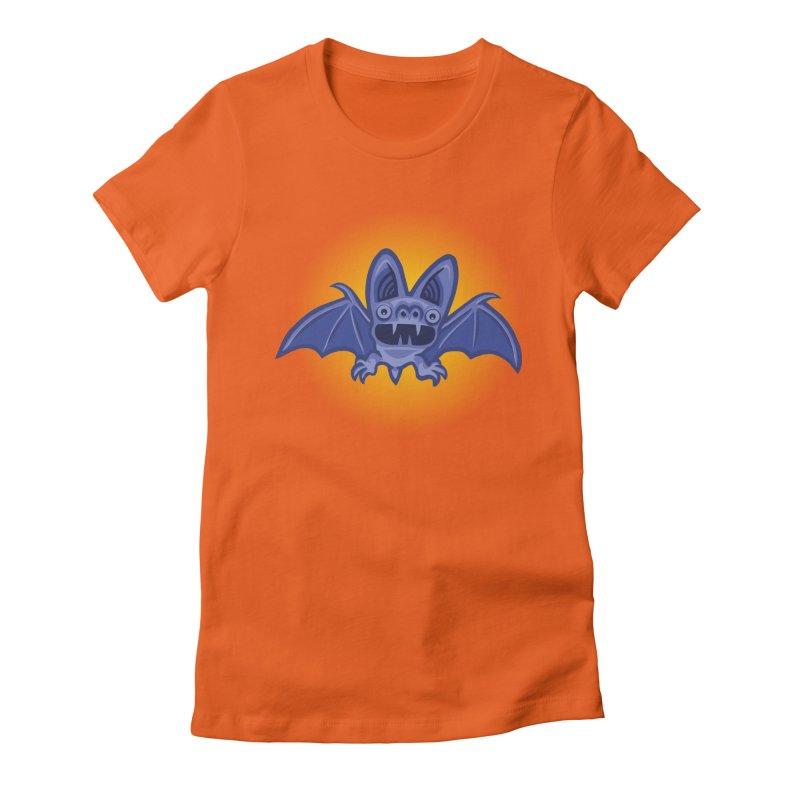 Bat Atcha Women's Fitted T-Shirt by STWALLSKULL's Shirt Shack