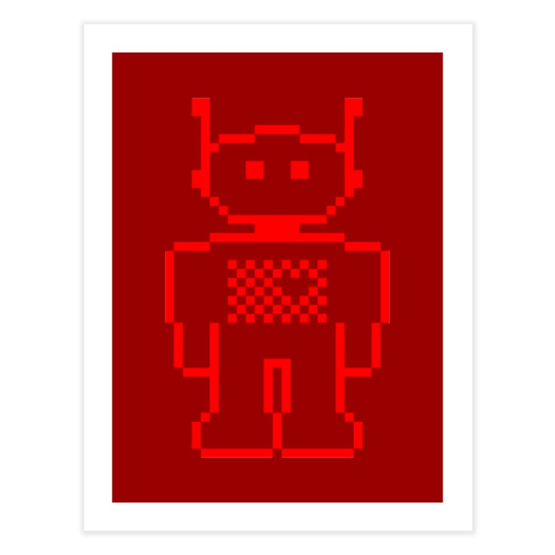Pixibot Home Fine Art Print by stylebot