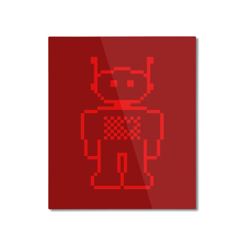 Pixibot Home Mounted Aluminum Print by stylebot