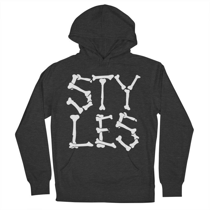 Styles in Bones Men's Pullover Hoody by Styles in Black