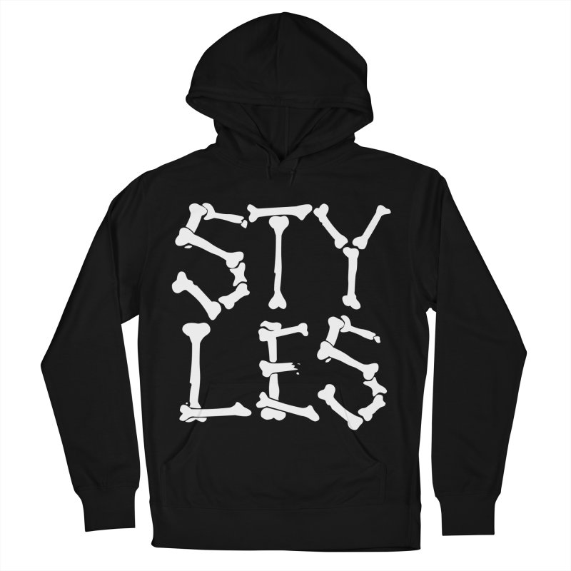Styles in Bones Men's French Terry Pullover Hoody by Styles in Black