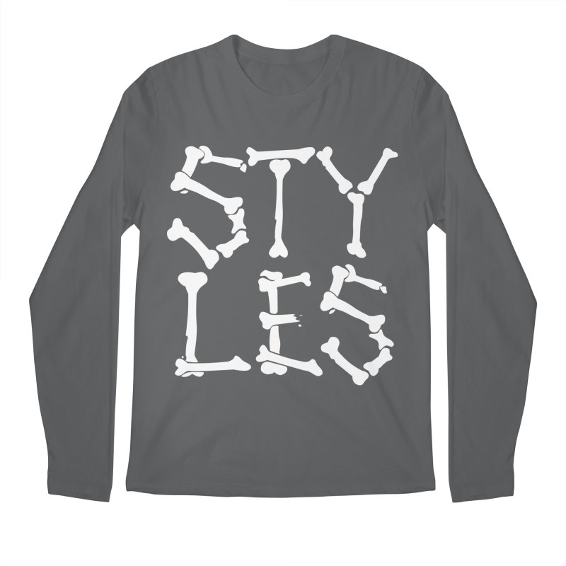 Styles in Bones Men's Regular Longsleeve T-Shirt by Styles in Black