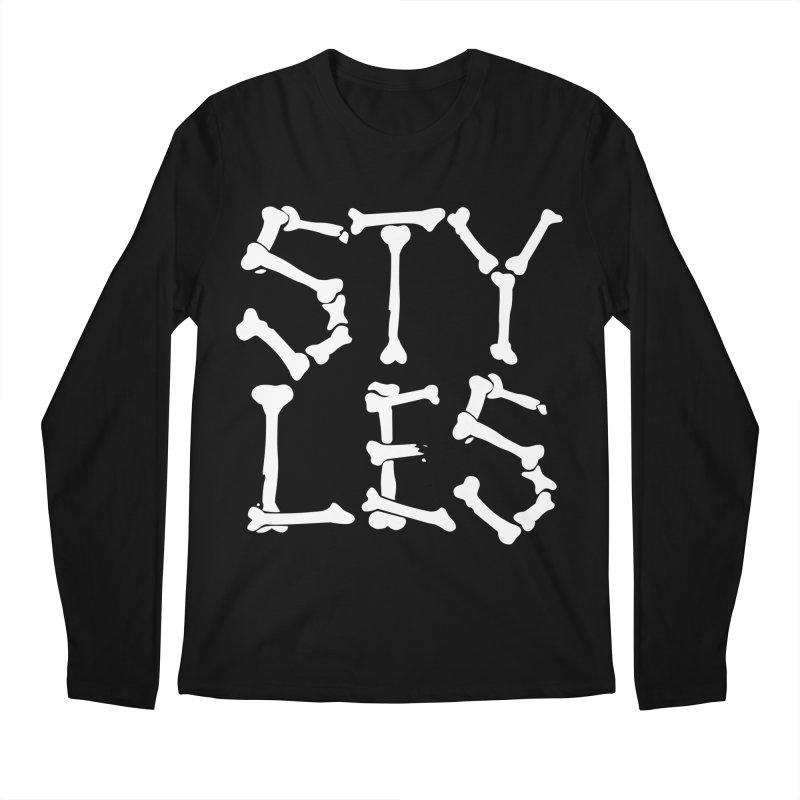Styles in Bones Men's Regular Longsleeve T-Shirt by Styles in Black