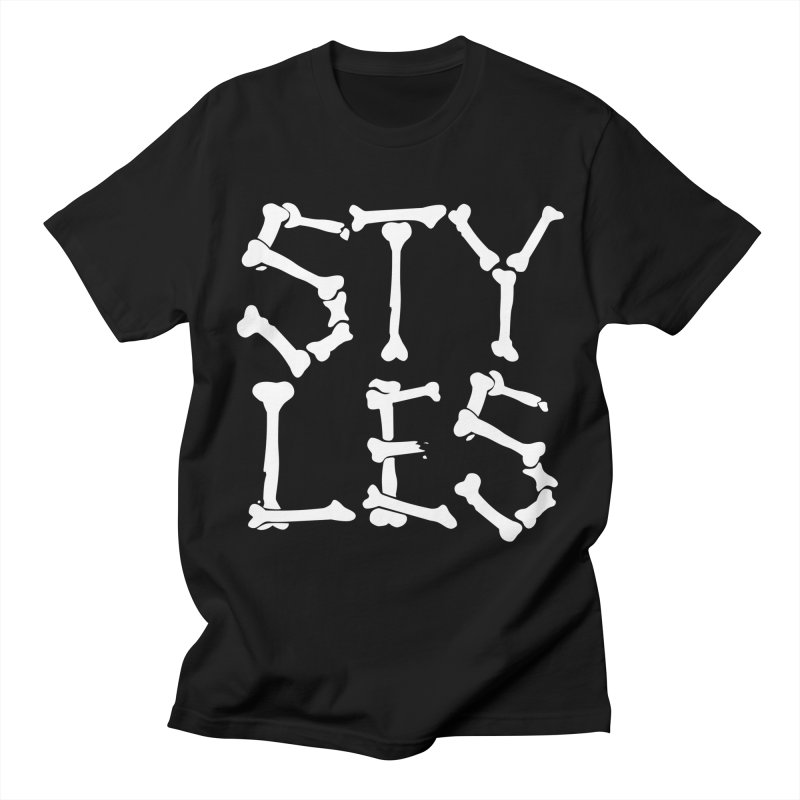 Styles in Bones Men's T-Shirt by Styles in Black