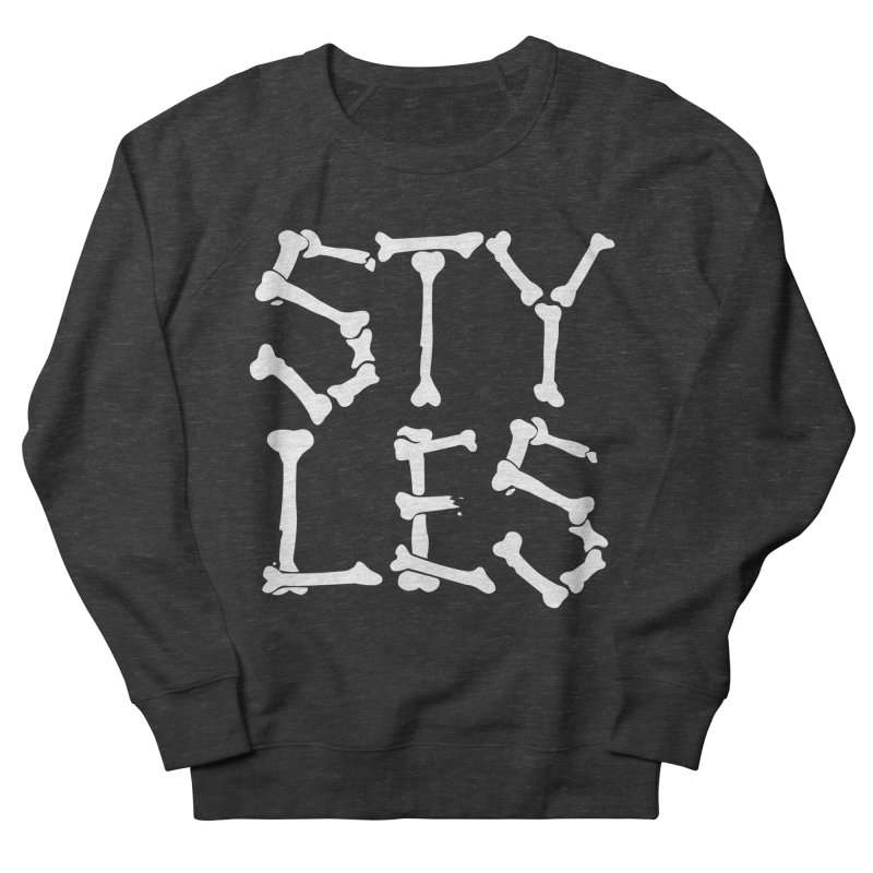 Styles in Bones Women's French Terry Sweatshirt by Styles in Black