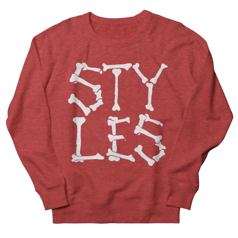 Styles in Bones Men's French Terry Sweatshirt by Styles in Black