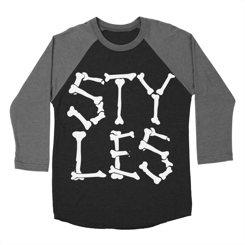 Styles in Bones Men's Baseball Triblend T-Shirt by Styles in Black