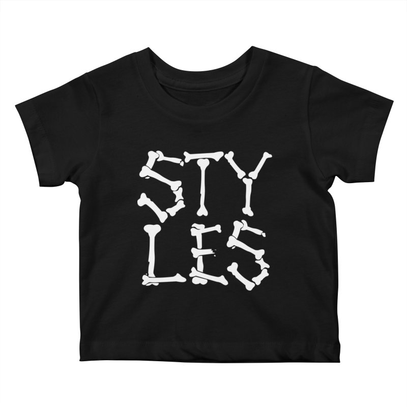 Styles in Bones Kids Baby T-Shirt by Styles in Black