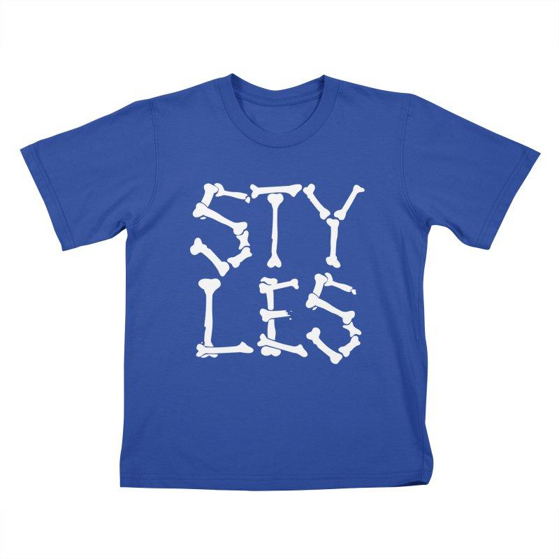 Styles in Bones Kids T-Shirt by Styles in Black