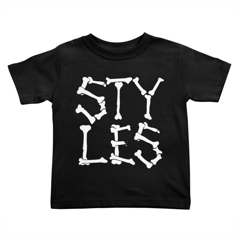 Styles in Bones Kids Toddler T-Shirt by Styles in Black