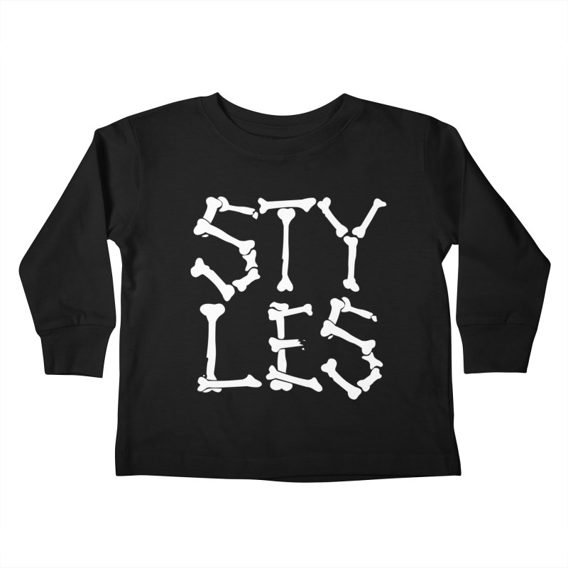 Styles in Bones Kids Toddler Longsleeve T-Shirt by Styles in Black