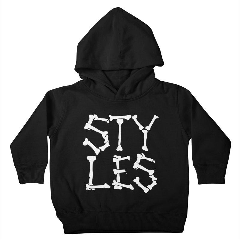 Styles in Bones Kids Toddler Pullover Hoody by Styles in Black