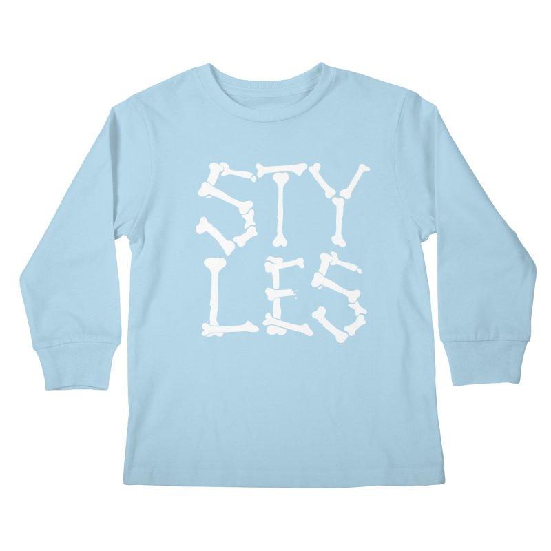 Styles in Bones Kids Longsleeve T-Shirt by Styles in Black