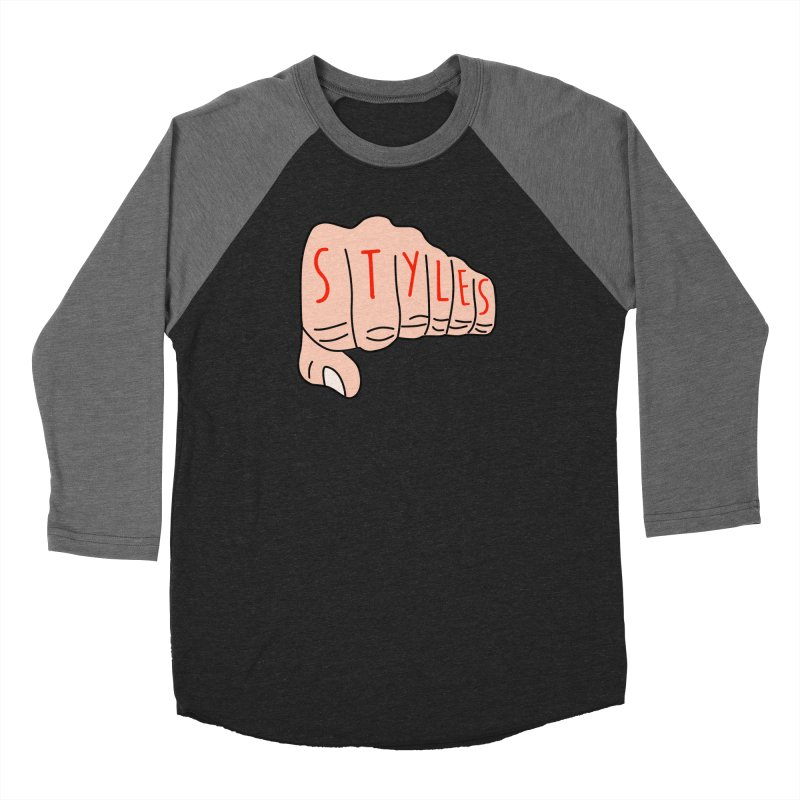 Styles Fist Women's Baseball Triblend Longsleeve T-Shirt by Styles in Black