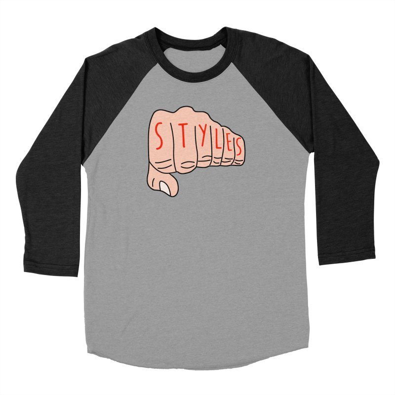Styles Fist Women's Baseball Triblend T-Shirt by Styles in Black