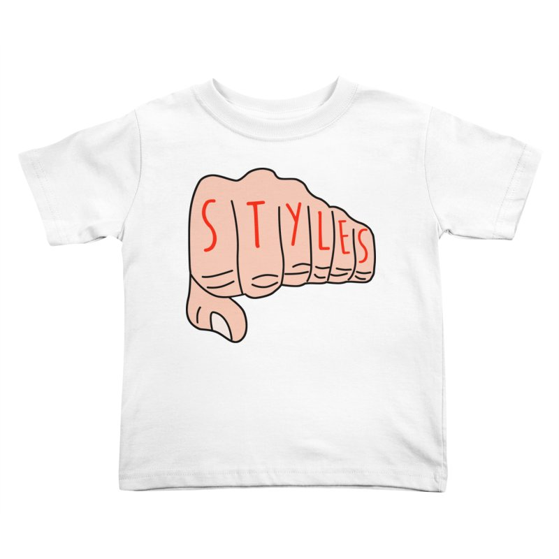 Styles Fist Kids Toddler T-Shirt by Styles in Black