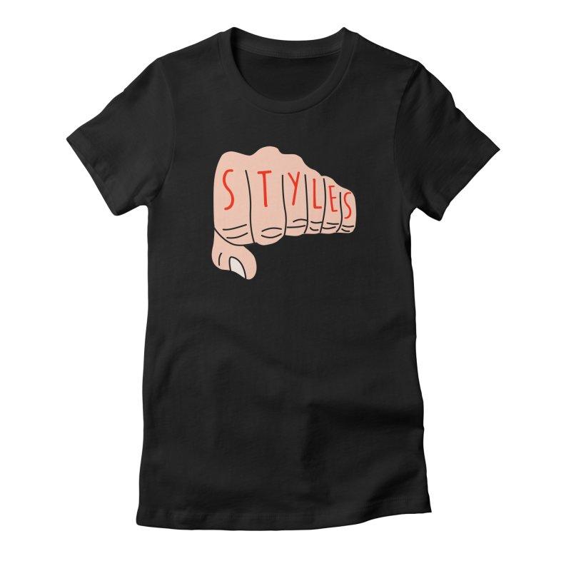 Styles Fist Women's T-Shirt by Styles in Black