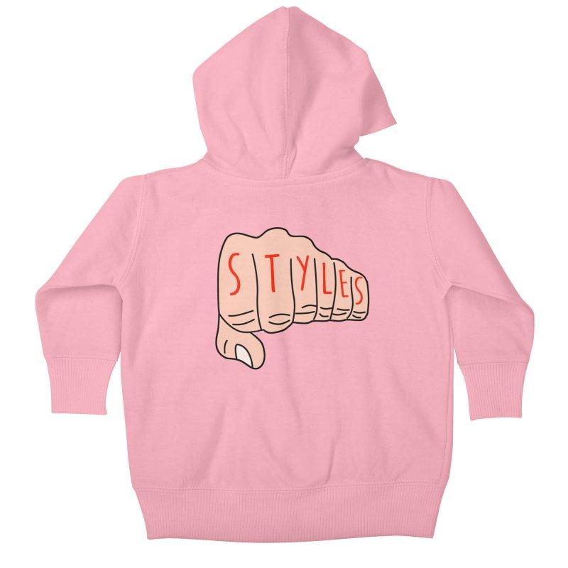 Styles Fist Kids Baby Zip-Up Hoody by Styles in Black