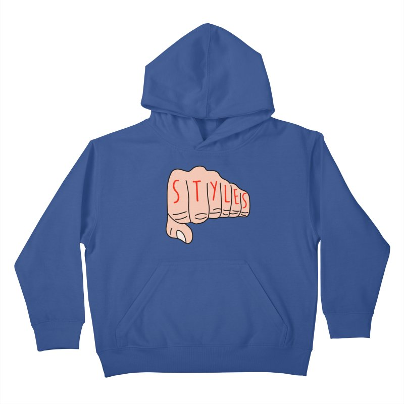Styles Fist Kids Pullover Hoody by Styles in Black