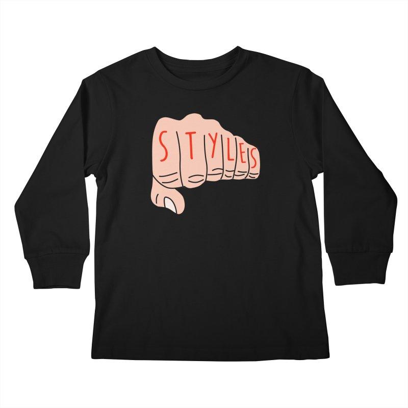 Styles Fist Kids Longsleeve T-Shirt by Styles in Black