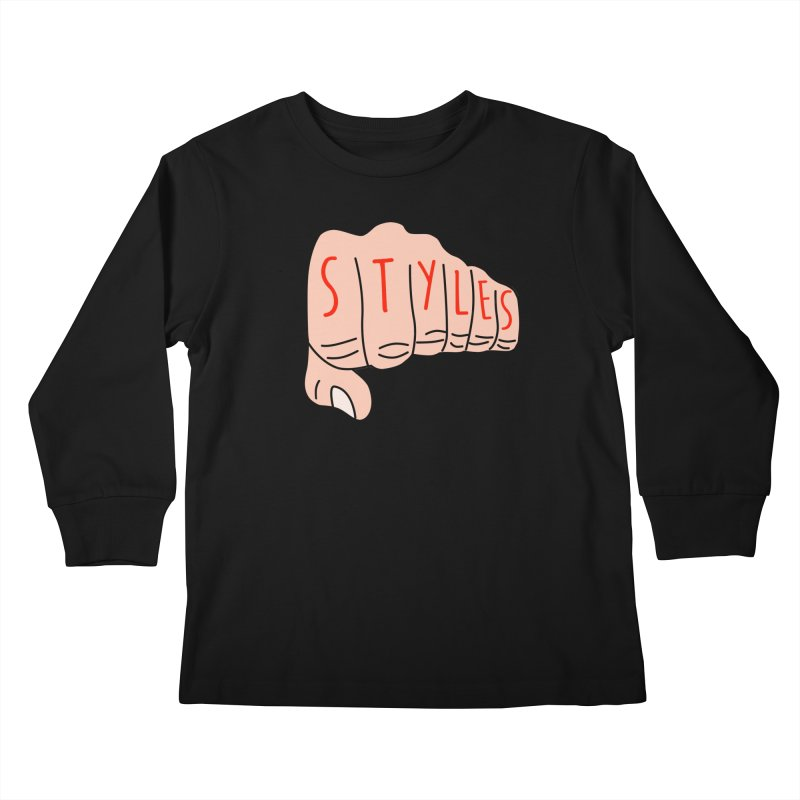 Styles Fist Kids Longsleeve T-Shirt by Styles in Black