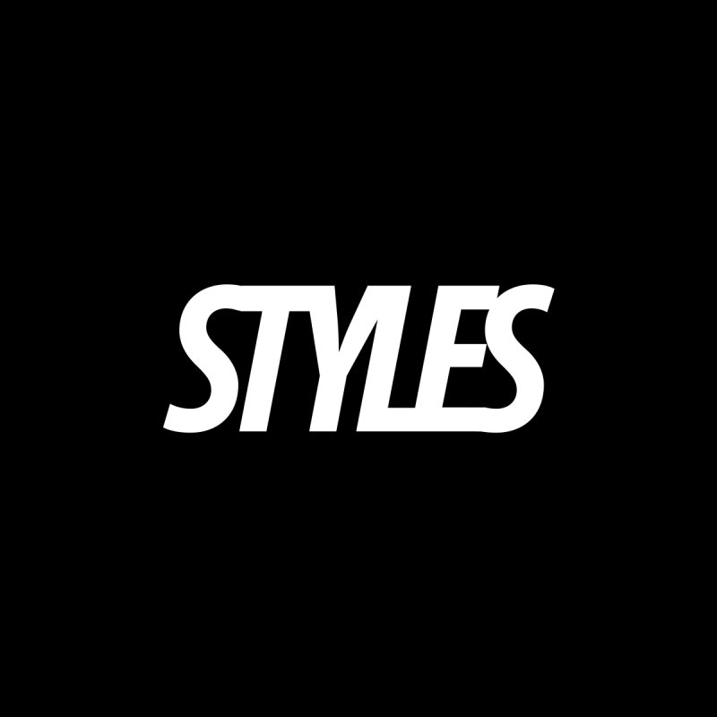 Styles in Black Logo Accessories Bag by Styles in Black