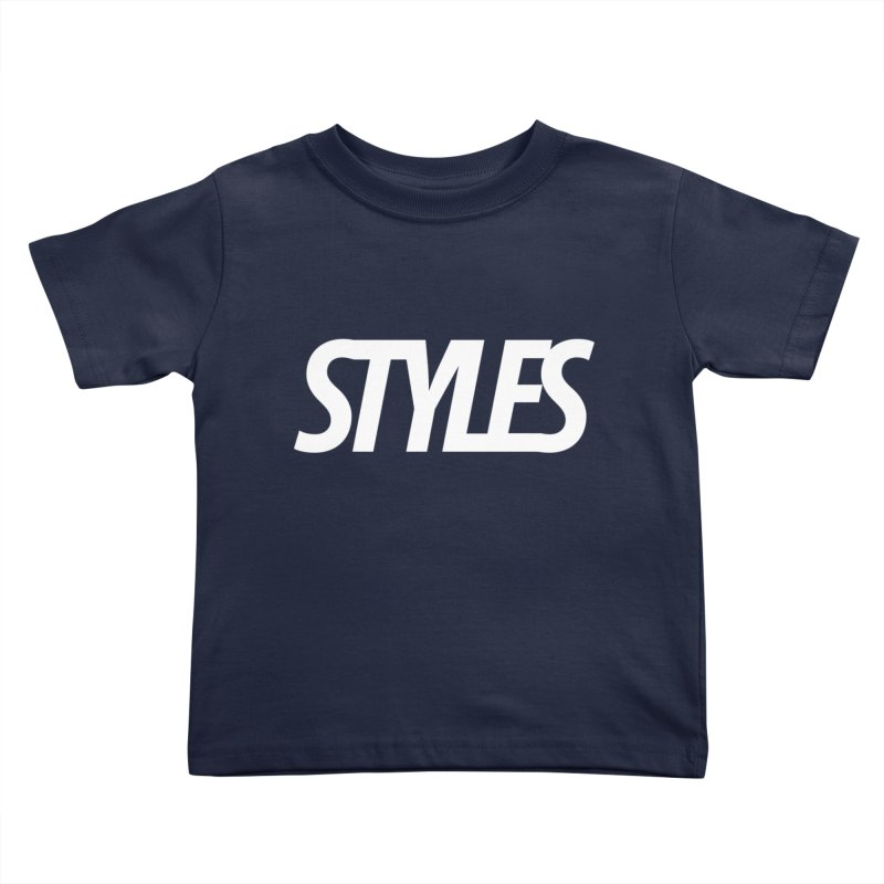 Styles in Black Logo Kids Toddler T-Shirt by Styles in Black