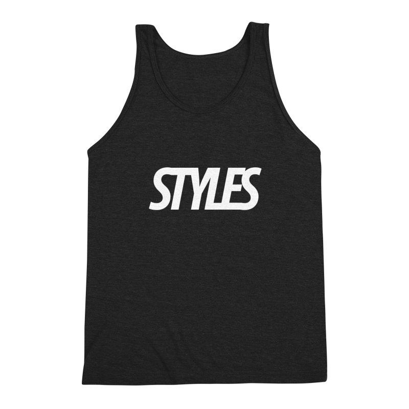 Styles in Black Logo Men's Triblend Tank by Styles in Black