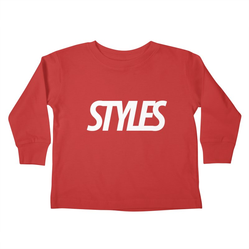 Styles in Black Logo Kids Toddler Longsleeve T-Shirt by Styles in Black