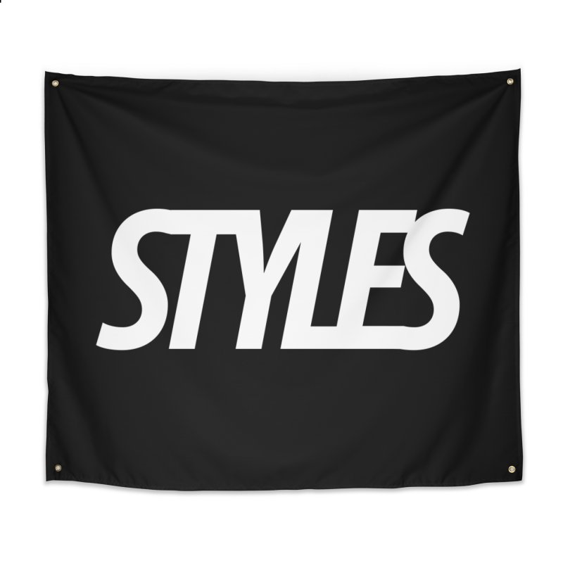 Styles in Black Logo Home Tapestry by Styles in Black