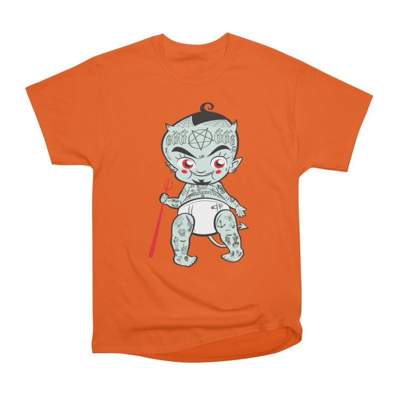 Little devil Men's Heavyweight T-Shirt by monoestudio's Artist Shop