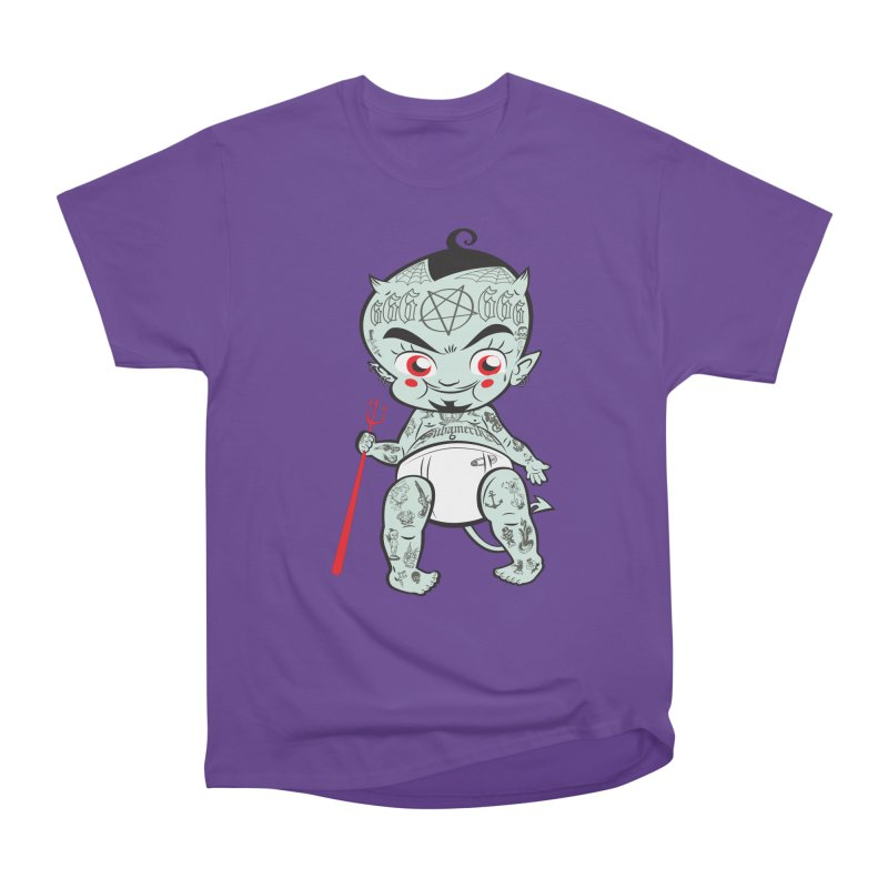 Little devil Men's Heavyweight T-Shirt by monoestudio's Artist Shop